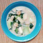 チンゲン菜と海鮮のクリーム煮