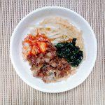 鍋スープの素でビビンバ風炊き込みキムチご飯!