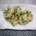 フライパンで釜揚げしらすと大葉の天ぷら