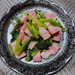 試食現場でバカウケ❗ ベーコンと小松菜の炒め物🍳